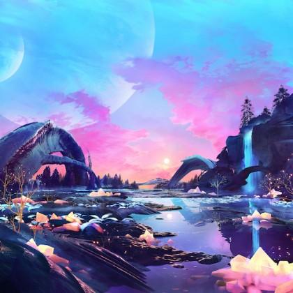 Behind The Sky Music - BLUETECH - Sci-Fi Lullabies