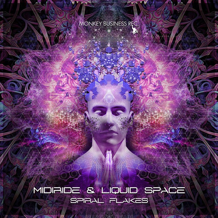 Monkey Business Records - MIDIRIDE & LIQUID SPACE - Spiral Flakes