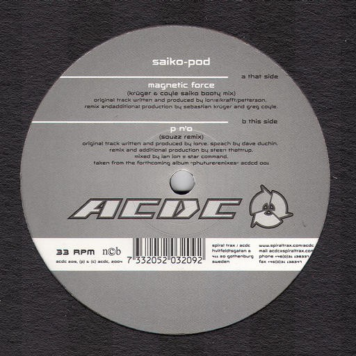 Acdc Records - SAIKO POD - Magnetic Force