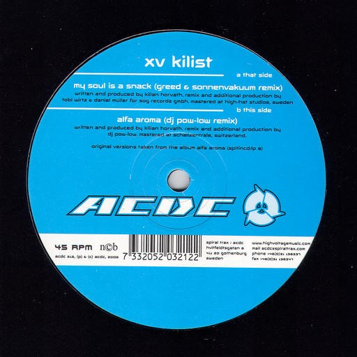 Acdc Records - XV KILIST - My Soul Is A Snack